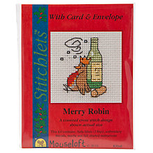 Buy Mouseloft Merry Robin Cross Stitch Kit with Card and Envelope Online at johnlewis.com