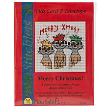 Buy Mouseloft Meery Christmas Cross Stitch Kit with Card and Envelope Online at johnlewis.com