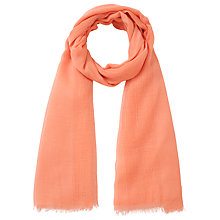 Buy Collection WEEKEND by John Lewis Plain Basket Weave Scarf, Orange Online at johnlewis.com