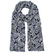 Buy Kin by John Lewis Graphic Cloud Print Scarf, Navy Online at johnlewis.com