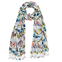 Buy John Lewis Bird Print Scarf, Multi Online at johnlewis.com