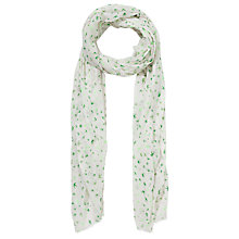 Buy John Lewis Bird Print Scarf, Green Online at johnlewis.com
