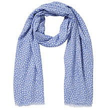 Buy John Lewis Scattered Spot Print Scarf, Blue Online at johnlewis.com