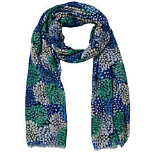 Buy John Lewis Spectrum Flower Print Scarf, Blue Online at johnlewis.com