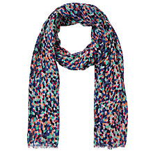 Buy Collection WEEKEND by John Lewis Overlap Dot Print Slub Scarf, Multi Online at johnlewis.com