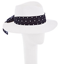 Buy John Lewis Sash Tie Fedora Sun Hat Online at johnlewis.com