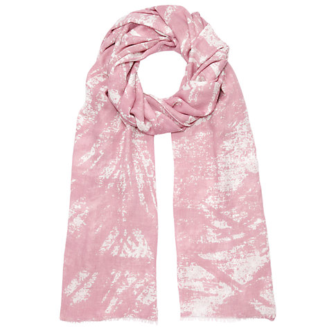 Buy John Lewis Large Scratch Design Print Scarf, Pink Online at johnlewis.com
