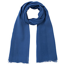 Buy Collection WEEKEND by John Lewis Plain Basket Weave Scarf, Blue Online at johnlewis.com