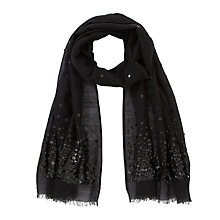 Buy John Lewis Scattered Sequin Scarf, Black Online at johnlewis.com
