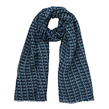 Buy John Lewis Bicycle Print Scarf, Navy Online at johnlewis.com