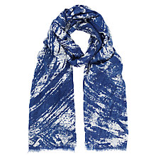 Buy Kin by John Lewis Large Scratch Print Scarf, Navy Online at johnlewis.com