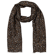 Buy John Lewis Animal Print Scarf, Taupe Online at johnlewis.com