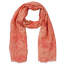 Buy John Lewis Scattered Animal Print Scarf, Coral Online at johnlewis.com