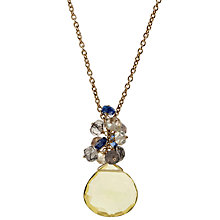 Buy John Lewis Lemon Quartz 18ct Gold Plated Pendant Necklace Online at johnlewis.com