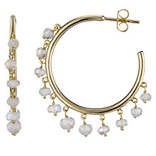 Buy John Lewis Gemstones Bead Drop Row Earrings Online at johnlewis.com
