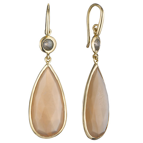 Buy John Lewis Gemstones Pear Double Drop Earrings Online at johnlewis.com