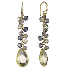 Buy John Lewis Lemon Quartz 18ct Gold Plated Drop Earrings Online at johnlewis.com