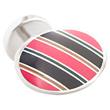 Buy Thomas Pink Oval Stripe Cufflinks Online at johnlewis.com