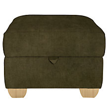Buy John Lewis Gino Footstool, Ruben Mocha Online at johnlewis.com