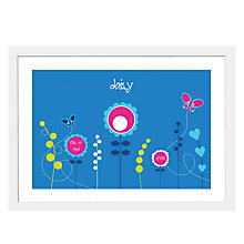 Buy A Piece OF Personalised Flowers Framed Poster Print , White Frame, 29.7 x 42cm Online at johnlewis.com