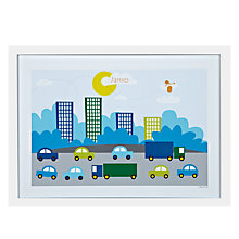 Buy A Piece Of Personalised City Traffic Framed Poster Print, White Frame, 29.7 x 42cm Online at johnlewis.com
