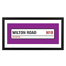 Buy A Piece Of Personalised Street & Borough Framed Poster Print, Black Frame, 25.4 x 50.8cm Online at johnlewis.com