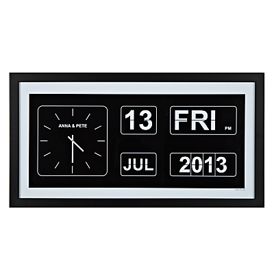 A Piece Of Personalised Special Occasion Flip Clock Framed Poster Print, Black Frame, 25.4 x 50.8cm