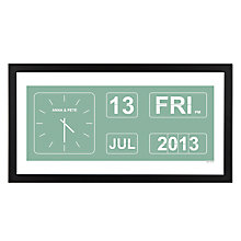 Buy A Piece Of Personalised Special Occasion Flip Clock Framed Poster Print, Black Frame, 30 x 30cm Online at johnlewis.com