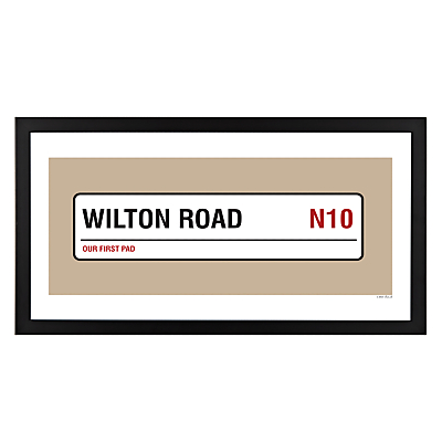 A Piece Of Personalised Street & Borough Framed Poster Print, Black Frame, 25.4 x 50.8cm