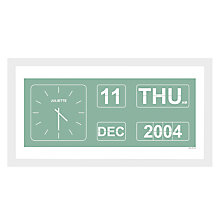 Buy A Piece Of Personalised Special Occasion Flip Clock Framed Poster Print, White Frame, 30 x 30cm Online at johnlewis.com