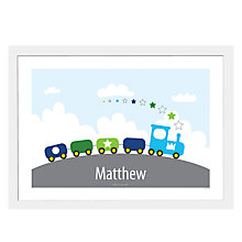 Buy A Piece Of Personalised Train Framed Poster Print, White Frame, 29.7 x 42cm Online at johnlewis.com