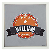 Buy A Piece Of Personalised Big Letter Name Framed Poster Print, White Frame, 30 x 30cm Online at johnlewis.com