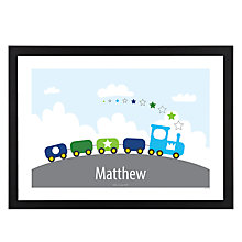 Buy A Piece Of Personalised Train Framed Poster Print, Black Frame, 29.7 x 42cm Online at johnlewis.com
