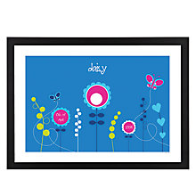 Buy A Piece OF Personalised Flowers Framed Poster Print , Black Frame, 29.7 x 42cm Online at johnlewis.com