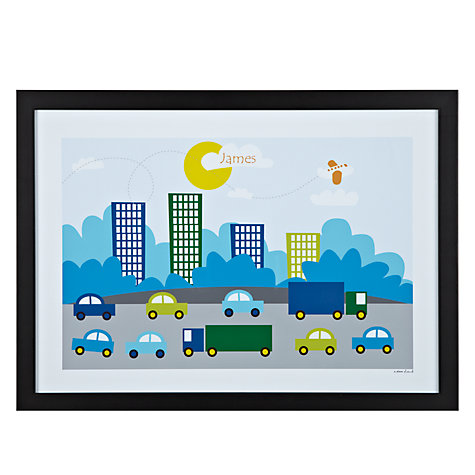 Buy A Piece Of Personalised City Traffic Framed Poster Print, Black Frame, 29.7 x 42cm Online at johnlewis.com