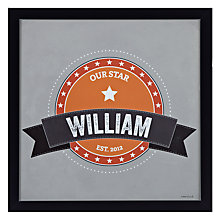 Buy A Piece Of Personalised Big Letter Name Framed Poster Print, Black Frame, 30 x 30cm Online at johnlewis.com