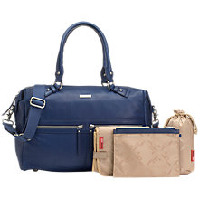 Buy Storksak Caroline Leather Changing Bag, Blue Online at johnlewis.com