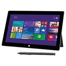 "Buy Microsoft Surface Pro 2, Intel Core i5, 4GB RAM, Windows 8.1 Pro, 10.6"", 128GB, Wi-Fi, Black Online at johnlewis.com"