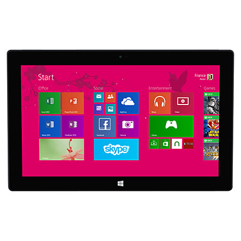 "Buy Microsoft Surface Pro 2, Intel Core i5, 4GB RAM, Windows 8.1 Pro, 10.6"", 64GB, Wi-Fi, Black Online at johnlewis.com"
