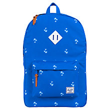 Buy Herschel Palm Treet Print Backpack, Blue Online at johnlewis.com