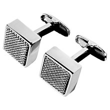 Buy Denison Boston Mindy Spyder Stainless Steel Cufflinks, Silver Online at johnlewis.com