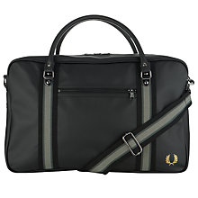 Buy Fred Perry Textured Overnight Bag, Black Online at johnlewis.com