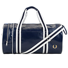 Buy Fred Perry Retro Barrel Bag, Navy Online at johnlewis.com