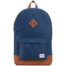 Buy Herschel Heritage Backpack, Navy Online at johnlewis.com