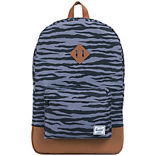 Buy Herschel Zebra Heritage Backpack, Grey Online at johnlewis.com