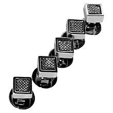 Buy Denison Boston Mindy Spyder Dress Studs, Set of 5, Grey Online at johnlewis.com
