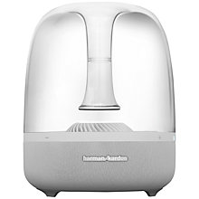 Buy Harman Kardon Aura Wireless Speaker System with Wi-Fi, Bluetooth and Apple Airplay, White Online at johnlewis.com
