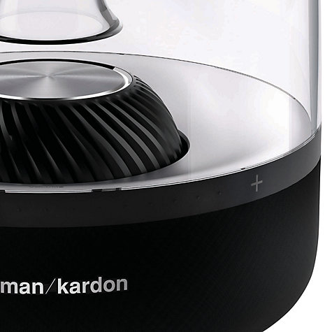 Buy Harman Kardon Aura Wireless Speaker System with Wi-Fi, Bluetooth and Apple Airplay, Black Online at johnlewis.com
