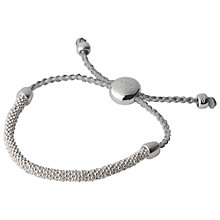Buy Links of London Effervescence XS Sterling Silver Cord Bracelet, Pewter Online at johnlewis.com
