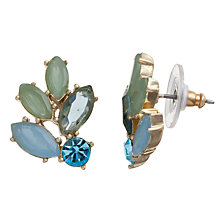 Buy Carolee Gold Toned Crystal Fan Stud Earrings Online at johnlewis.com